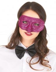 Lyserød øjenmaske med pailletter til voksne