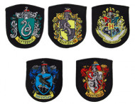 Samling af 5 replikaer af våbenskjold fra Hogwarts - Harry Potter™