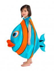 Blåt fiskekostume barn