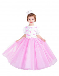 Kostume Prinsesse lyserød til piger - premium