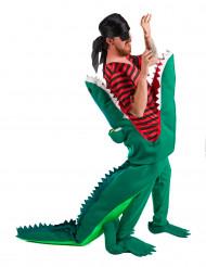 Pirat der bliver ædt af krokodille kostume voksen
