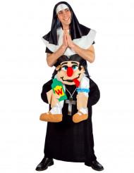 Nonne der bæres af præst - udklædning voksen