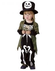 Kostume skelet i natten halloween barn