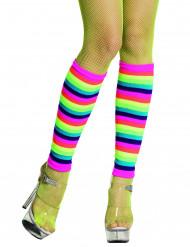 Benvarmere neonregnbuefarvede til voksne