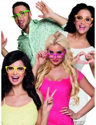 4 par briller neon til voksne