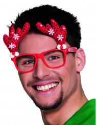 Briller rødt rensdyr til voksne