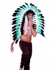 Hovedbeklædning indianerhøvding blå til voksne