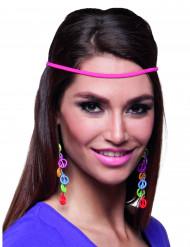 Øreringe peace multifarvede til voksne