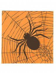 20 papirservietter med edderkopper Halloween