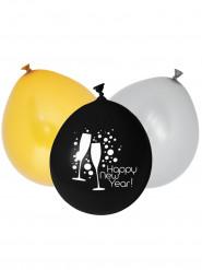 Balloner 12 stk Happy New Year