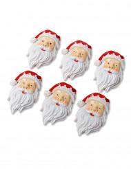 6 julemænd 4 cm med klister i harpiks