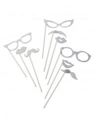 Photo-kit 9 stk. sølv glimmer