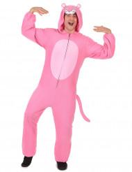 Heldragt med hætte lyserød panter til mænd
