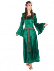 Grønt middelalderkostume dame