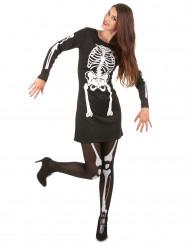 Kostume skelet til kvinde Halloween