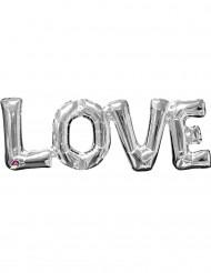 Sølv aluminium Love balloner