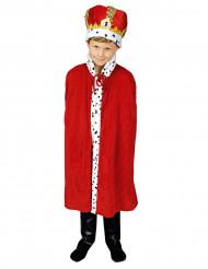 Kappe rød konge 80 cm til børn
