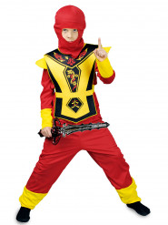 Kostume rød og gul ninja drenge