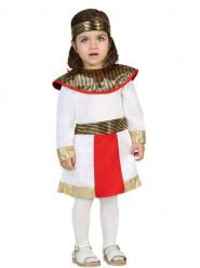 Egyptisk inspireret hvidt kostume baby