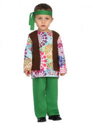 Multifarvet Prikket Hippiekostume Spædbarn