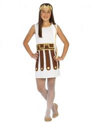 Hvidt romersk kostume til piger