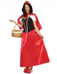 Rød eventyrprinsesse kostume voksen
