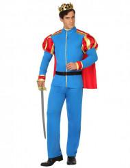 Blå eventyrprins kostume voksen