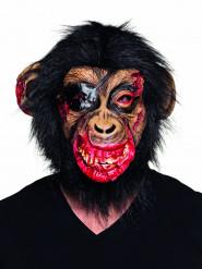 Maske i latex blodig abe Halloween til voksne