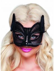 Halvmaske kat blonde sort kvinder