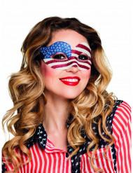 Halvmaske med pailletter USA kvinder