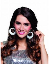 Øreringe sølvpailletter til kvinder