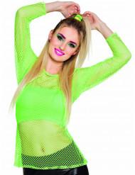 Neon grøn net-trøje 80