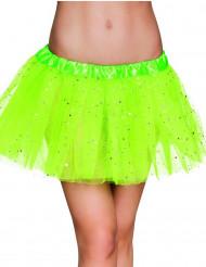 Balletskørt grøn glitrende stjernertil kvinder