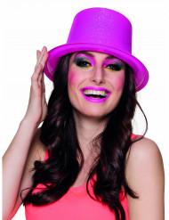 Høj hat neon lyserød voksen
