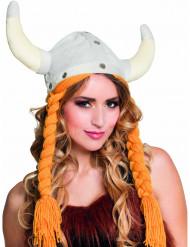 Hat viking med fletninger til voksne