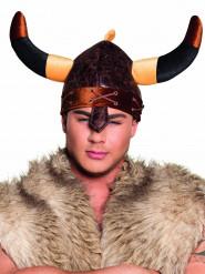 Hjelm viking brun til voksne
