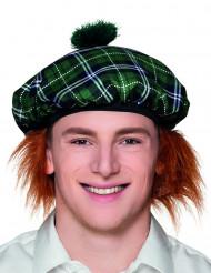 Baret skotsk grøn med hår til voksne