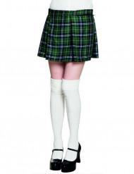 Grønt skotskinspireret kilt dame
