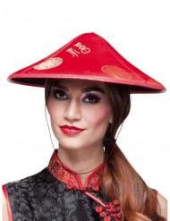 Hat kinesisk rød til voksne