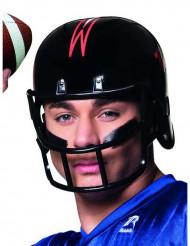 Football hjelm sort til voksne