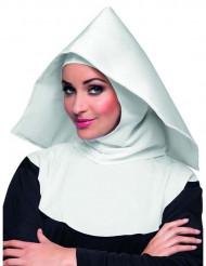 Hovedbeklædning nonne hvid til voksne