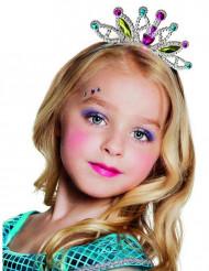 Diadem prinsesse farverigt til piger