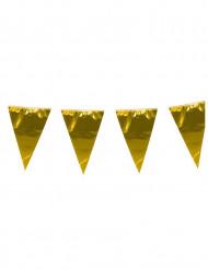 Guirlande med store gyldne faner 10 m