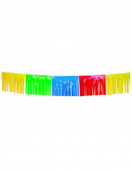 Guirlande med multifarvede frynser 10 meter