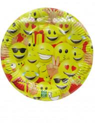 Emoji™ paptallerkener 23 cm