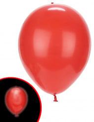 Balloner 5 stk. LED røde Illooms