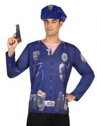 T-shirt politi til mand