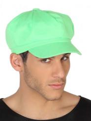 Kasket neon grøn til voksne