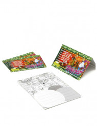 4 Invitationskort i pap med Scooby Doo™