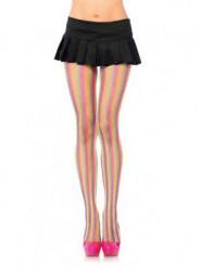 Strømpebukser net multifarvede neon til kvinder